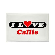 I Love Callie Rectangle Magnet (100 pack)