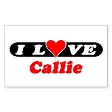 I Love Callie Rectangle Decal
