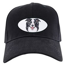 Border Collie Dog Portrait Baseball Hat