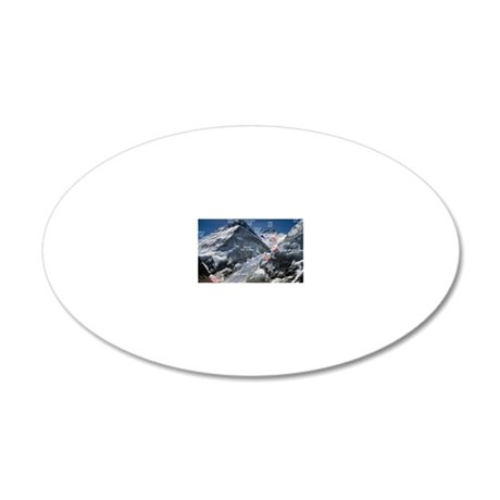 Mt. Everest Southeast Ridge  20x12 Oval Wall Decal
