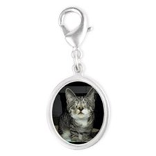 Pixie - Love is blind Silver Oval Charm