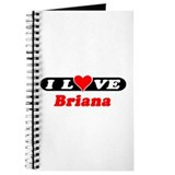 I Love Briana Journal