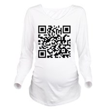 QR Code Long Sleeve Maternity T-Shirt