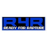 Ready For Rapture Blue Bumper Bumper Sticker