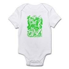 Green Multidragon Infant Bodysuit