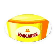 Margarine tub Oval Car Magnet