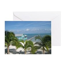 Beautiful Belize beach Greeting Card