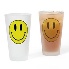 Yellow Smiling Face Drinking Glass