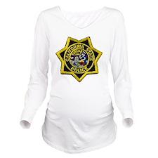 California State Pol Long Sleeve Maternity T-Shirt