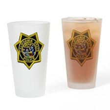 California State Police Badge Drinking Glass