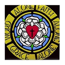 Grace Faith Word Car Magnet Tile Coaster