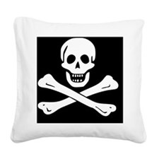 jolly roger Square Canvas Pillow