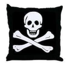 jolly roger Throw Pillow