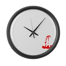 How To Kill A Zombie Large Wall Clock