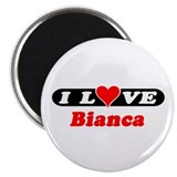 "I Love Bianca 2.25"" Magnet (10 pack)"