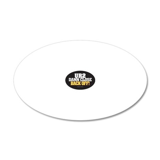 Anti-Tailgate Sticker 20x12 Oval Wall Decal