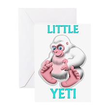 LITTLE YETI Greeting Card