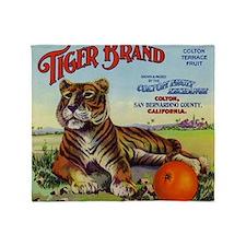 Tiger Oranges Throw Blanket
