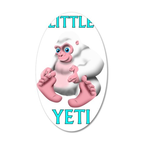 Little Yeti 35x21 Oval Wall Decal