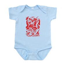 Red Multidragon Infant Bodysuit