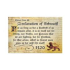 Declaration of Arbroath Rectangle Magnet (100)