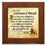 The Declaration of Arbroath Framed Tile