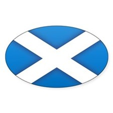 Scottish Saltire Oval Decal