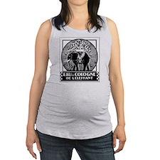 French Elephant Maternity Tank Top