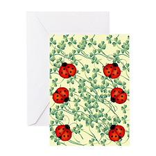 ladybug flip flops Greeting Card