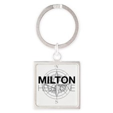 Milton and Helstone Square Keychain