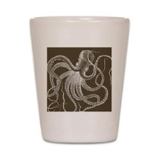 sea monster brown Shot Glass