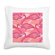 pinkflamingo_gelmp Square Canvas Pillow