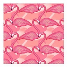 "pinkflamingo_4032 Square Car Magnet 3"" x 3"""
