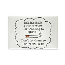 REASONS TO QUIT UP IN SMOKE Rectangle Magnet