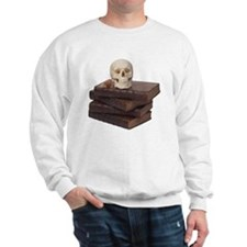 stack of books with skull Sweatshirt