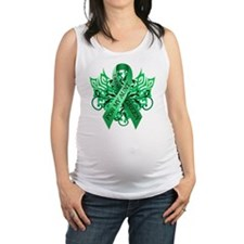 I Wear Green for my Aunt Maternity Tank Top