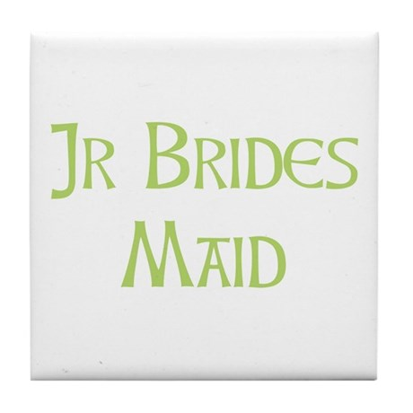 Sherbet Junior Bridesmaid Tile Coaster