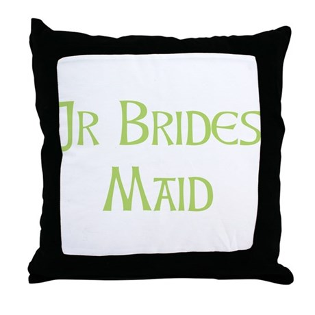 Sherbet Junior Bridesmaid Throw Pillow