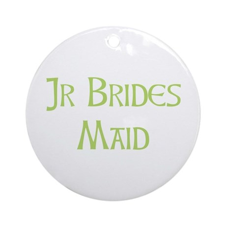 Sherbet Junior Bridesmaid Ornament (Round)