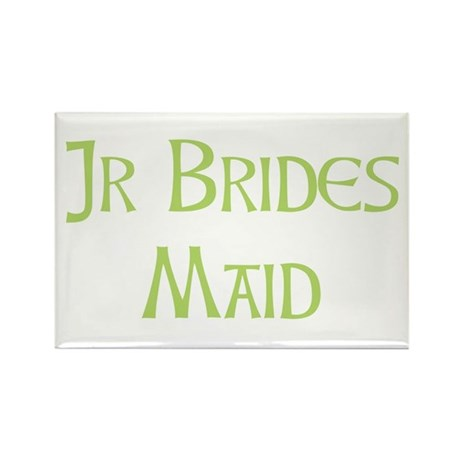Sherbet Junior Bridesmaid Rectangle Magnet (100 pa