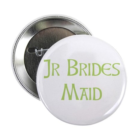 "Sherbet Junior Bridesmaid 2.25"" Button"