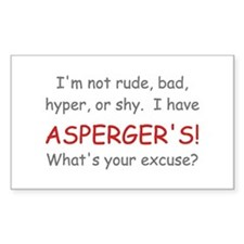 I Have Asperger's! Rectangle Decal