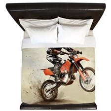 Man on his sport motor King Duvet