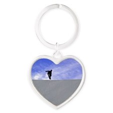 Big Air Blue Sky Heart Keychain