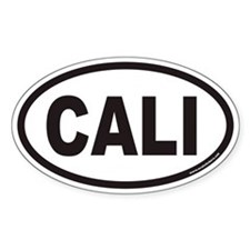 CALI Euro Oval Decal