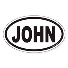 JOHN Euro Oval Decal