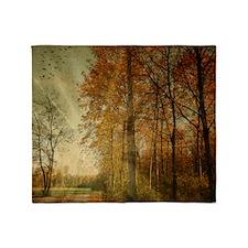 Autumn Landscape. Throw Blanket