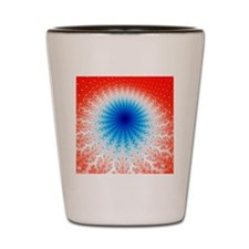 Mandelbrot fractal. Computer-generated  Shot Glass