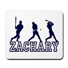 Baseball Zachary Personalized Mousepad