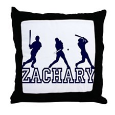 Baseball Zachary Personalized Throw Pillow